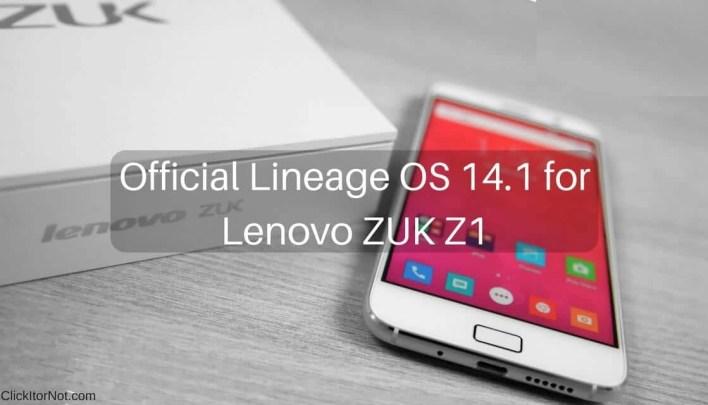 Official Lineage OS 14.1 on Lenovo ZUK Z1