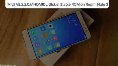 MIUI V8.2.2.0.MHOMIDL Global Stable ROM on Redmi Note 3