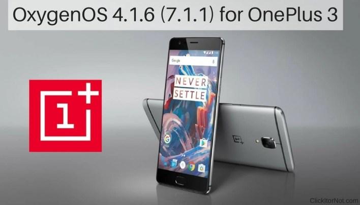OxygenOS 4.1.6 (7.1.1) for OnePlus 3