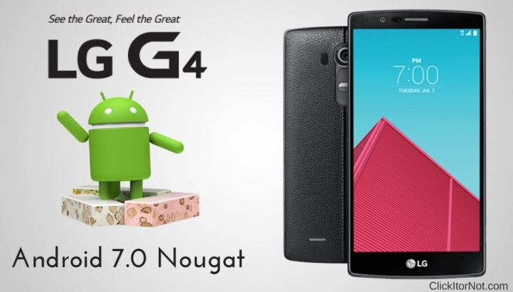 Android 7.0 Nougat on LG G4