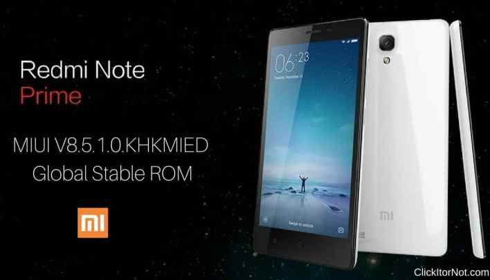 MIUI V8.5.1.0.KHKMIED Global Stable ROM on Redmi Note Prime