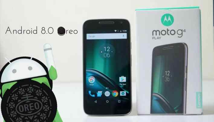Android 8.0 Oreo on Moto G4 Play