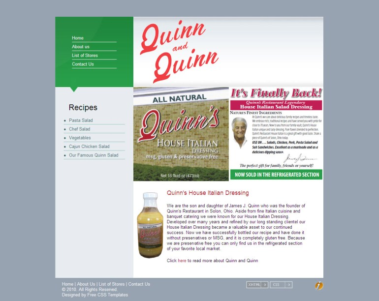 Quinn Italian Dressing