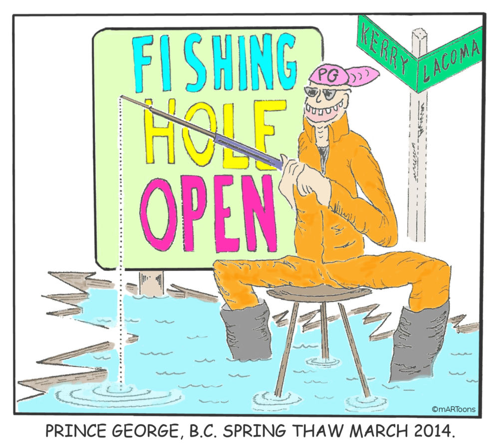 MT#192 Spring Thaw Fishing Hole by Martin West