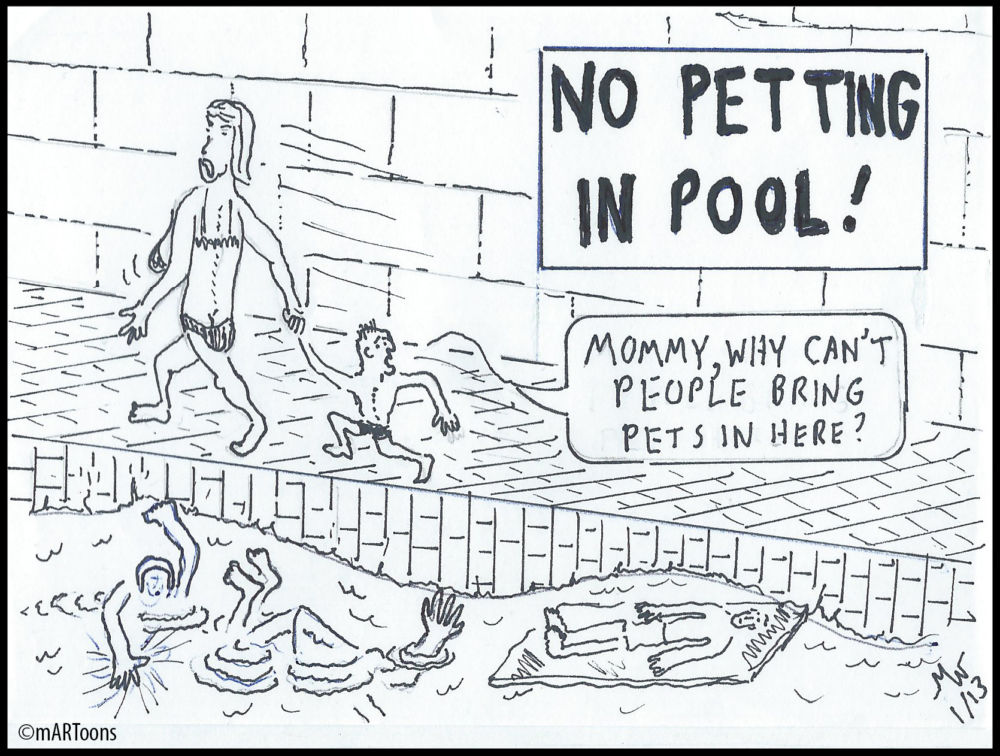 MT#262 Pool Petting by Martin West