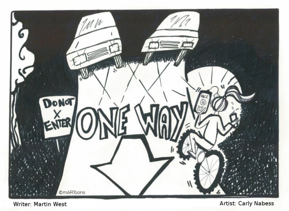 MT#306 One Way Cyclist