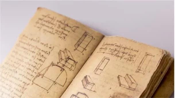 Conheça Cadernos digitalizados Leonardo da Vinci