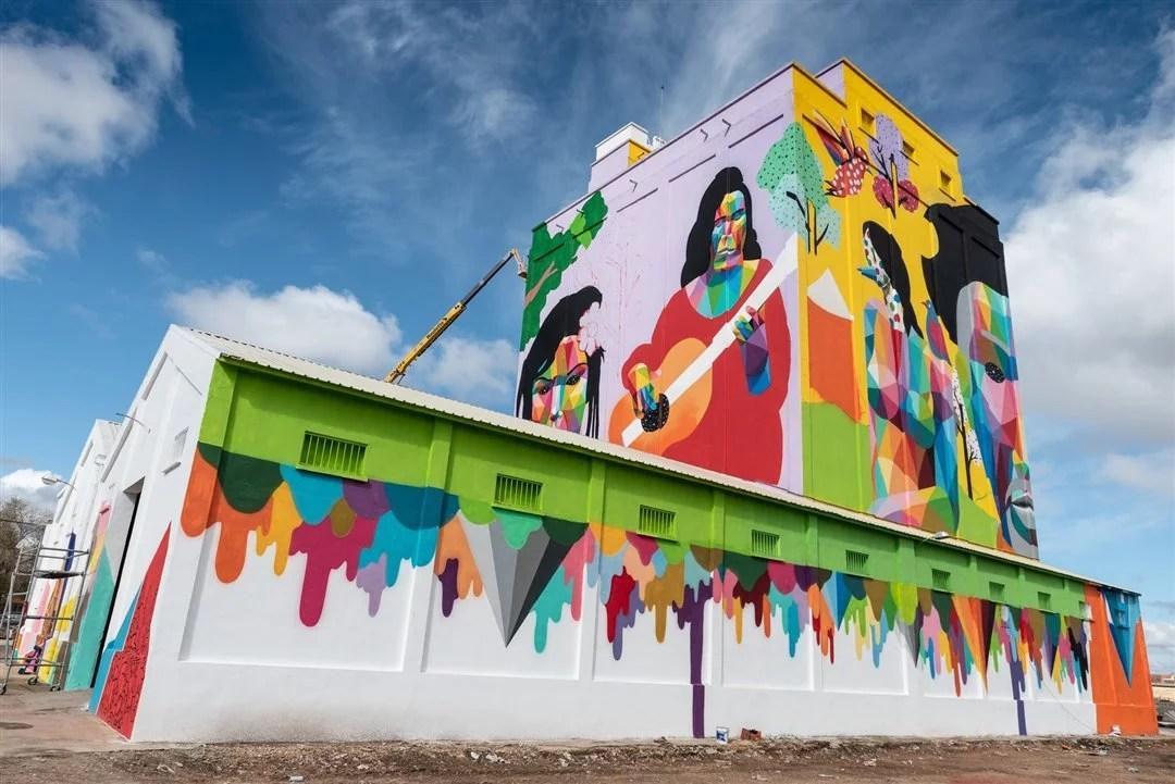 Projeto inclui pessoas com déficit de aprendizagem na criação de painéis grafitados