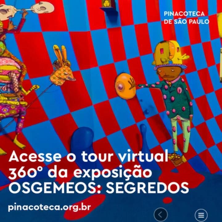 Pinacoteca de SP convida a todos para Tour virtual na exposição OSGEMEOS: SEGREDOS