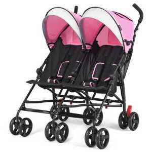 Kids Double Stroller Pink