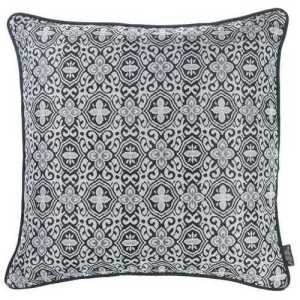Gray Jacquard Pillow Cover