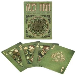 Aces High Green Playing-Cards