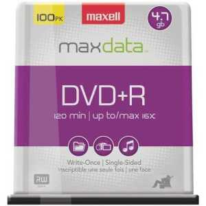 Maxell 4.7gb DVD+Rs with free and fast shipping worldwide