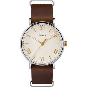Brown Slip-Thru Strap Watch