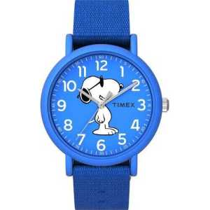 Blue Fabric Strap Watch