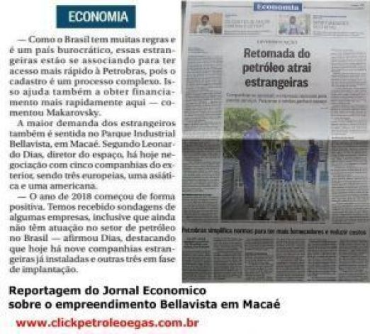 reportagem do jornal economico petróleo