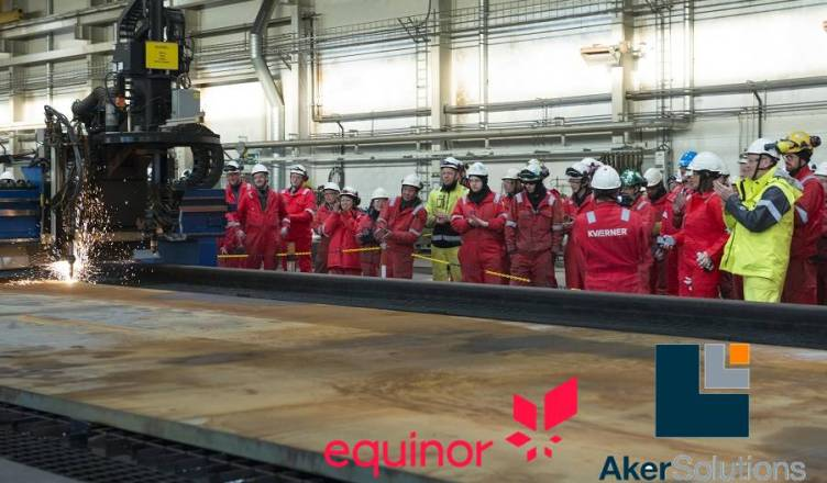 equinor aker mar do norte chama estaleiro