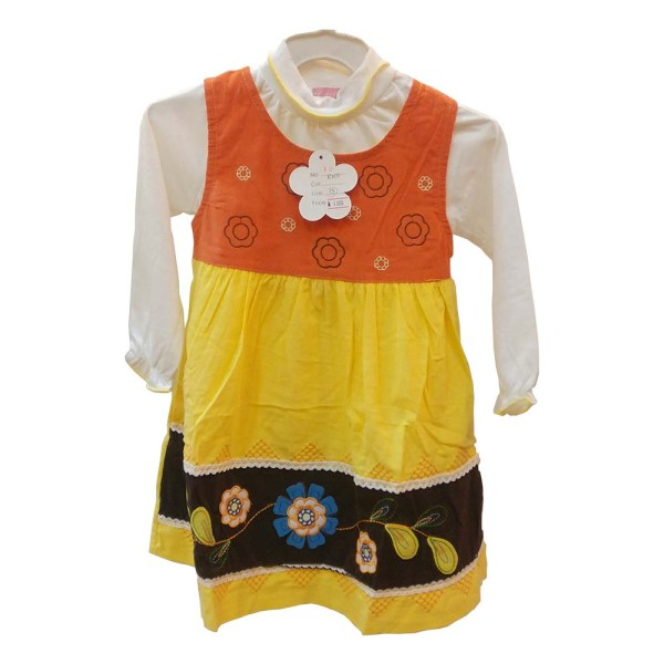 baby girls suit - yellow color dress