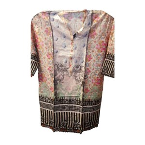 Computer Printed Pakistani Desi Clothes for full hands back side for sale