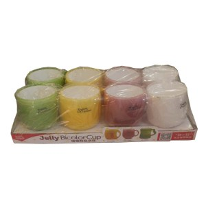 Laxon Cup set - jelly Bicolor Cup
