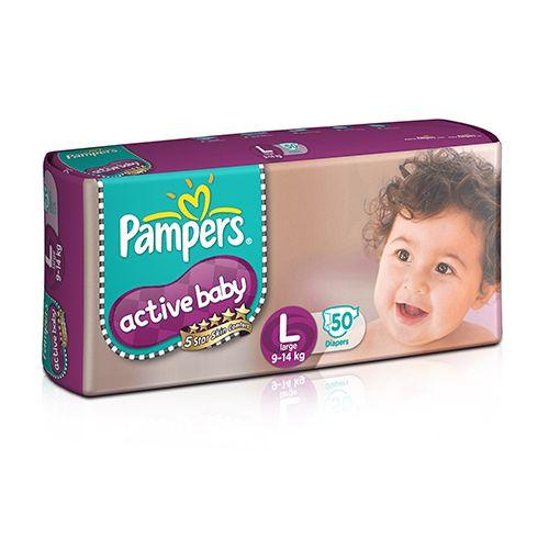 Pampers Active Baby Large - 50 Diaper Pants, 50 pcs Pouch
