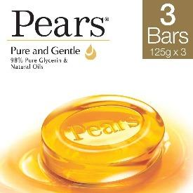 Pears Pure and Gentle Amber Soap 3x125G