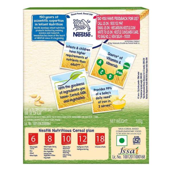 Nestle Cerelac - Wheat Mixed Vegetable (Stage 3), 300 g - ClickUrKart