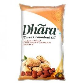 Dhara Oil - Groundnut, 1L Pouch