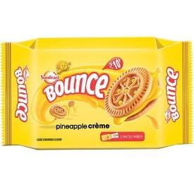 Sunfeast Bounce Biscuits - Pineapple Creme Cookies, 82 g