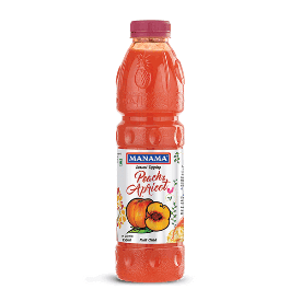 Manama Peach And Apricot Crushes 1Ltr - ClickUrKart