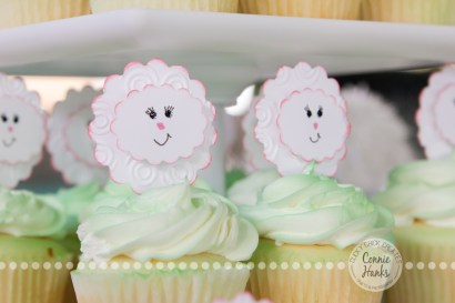 Connie Hanks Photography // ClickyChickCreates.com // Lamb Party, Mary had a little lamb, banner, cupcake toppers, gift tags, etsy, custom, handmade