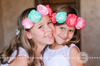 Connie Hanks Photography // ClickyChickCreates.com // Baja wedding, pink, turquoise, head wreath, cake, roses, lanterns, toast, kids, flower girls, ring bearers,