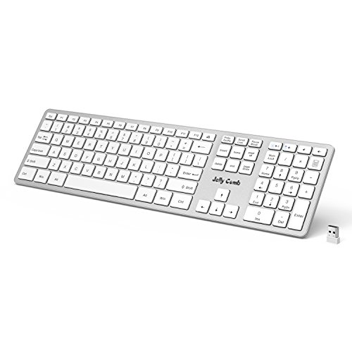 Wireless Keyboard — Jelly Comb 2.4G Ultra Slim Wireless