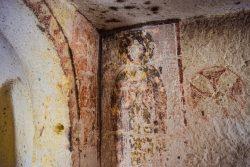 Affresco in una piccola chiesetta - Cappadocia