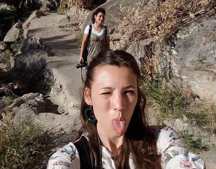 Trekking nella radura di Misfat in Oman