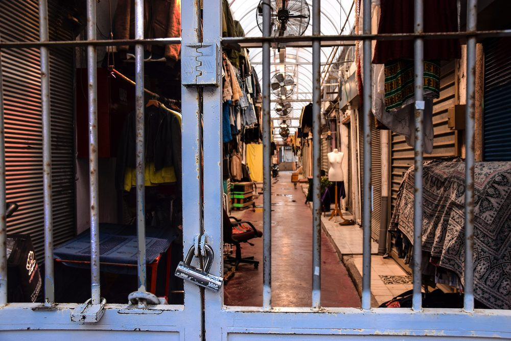Visitare Tel Aviv: i mercati di Jaffa dopo la chiusura dettaglio della cancellata