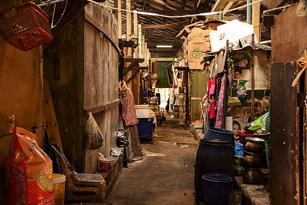 Bangkok mercato locale street view