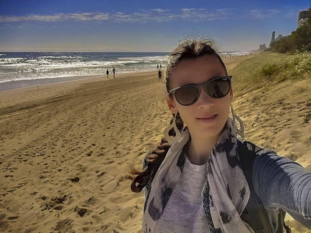 Io appena arrivata a Surfer Paradise in Gold Coast