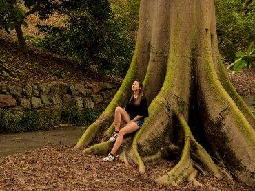 Brisbane Botanic Gardens Io nella Foresta secolare australiana