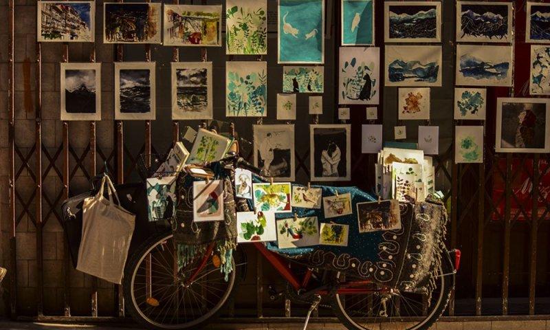 Porto Artista di strada in Rua das Flores