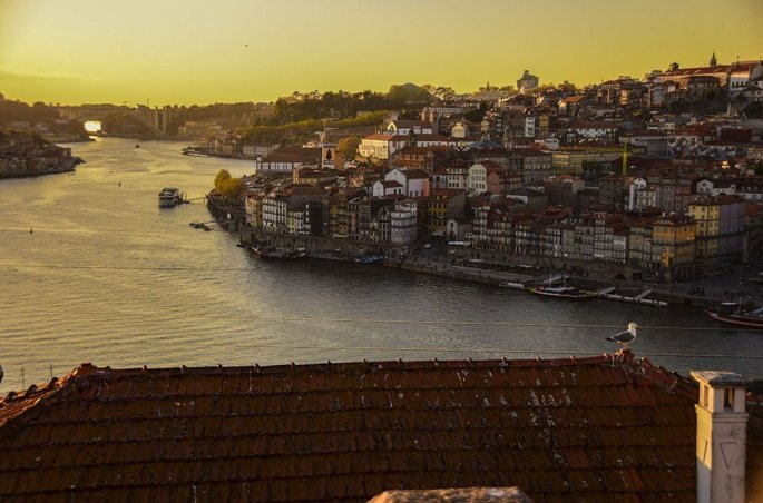 Porto Panoramica sulla  Ribeira da Vila Nova De Gaia