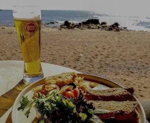 Il nostro pranzetto vista oceano a Foz do Douro