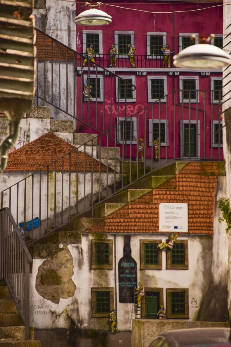 Vila Nova de Gaia Vicolo bellissimo con Street Art