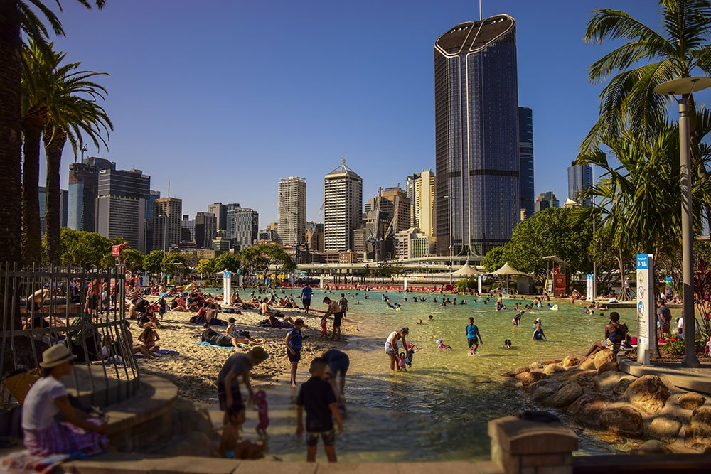Cosa fare a Brisbane: South Bank il mare in città