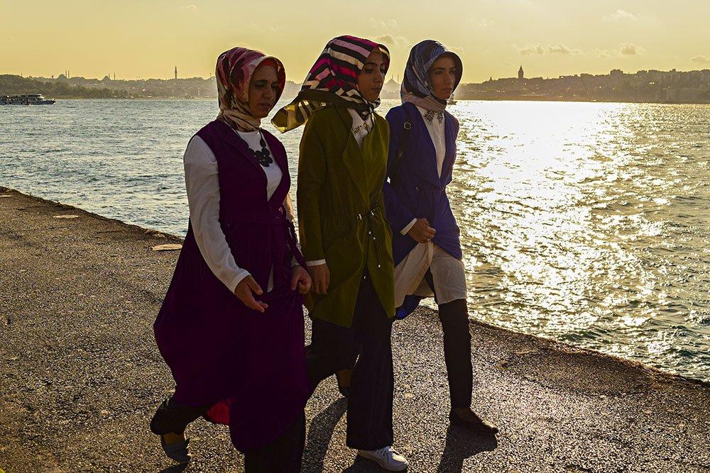 Donne musulmane a Uskudar