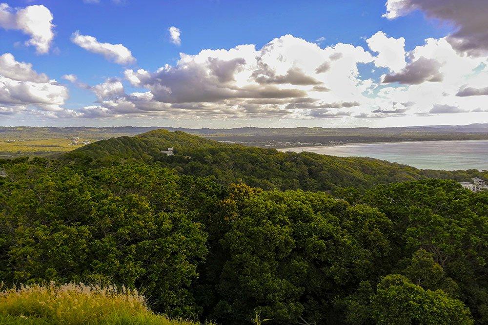 Il panorama dal faro Byron Bay
