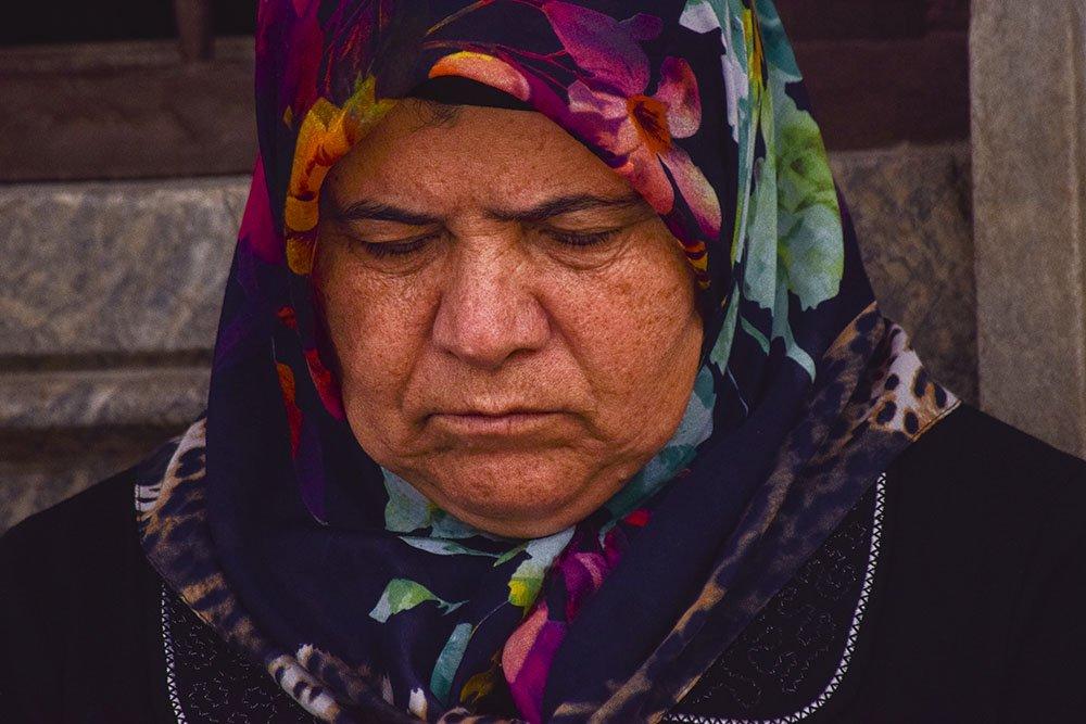 Volto di una pellegrina Konya