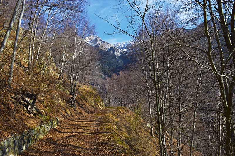 La strada Priula che da Mezzoldo porta al passo San Marco in Vale Brembana