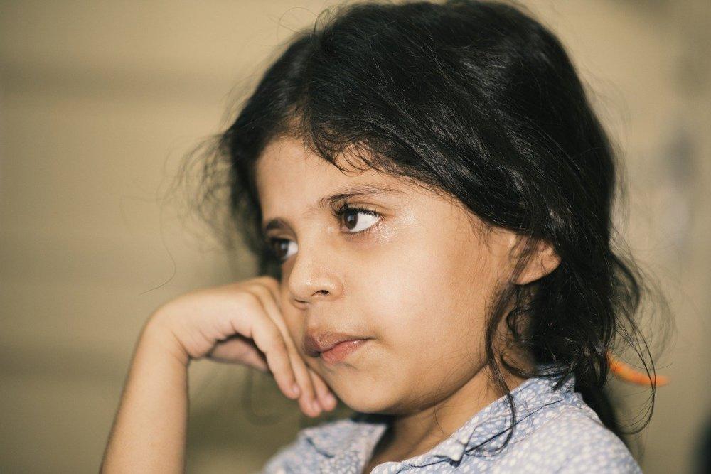 Una bambina pakistana