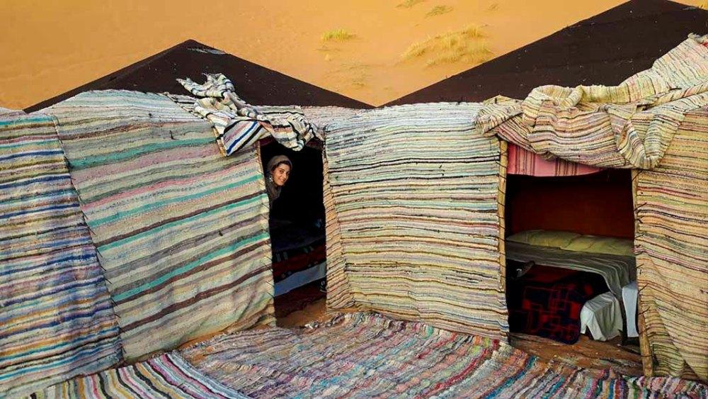 Dormire in tenda nel deserto